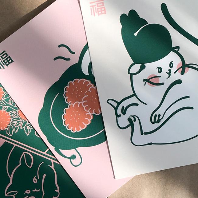 [이감각] 조선 고양이 엽서 세트