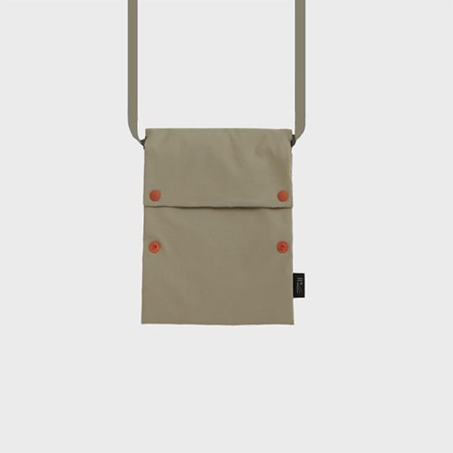 [공장] Two button book pouch cross_Oatmeal