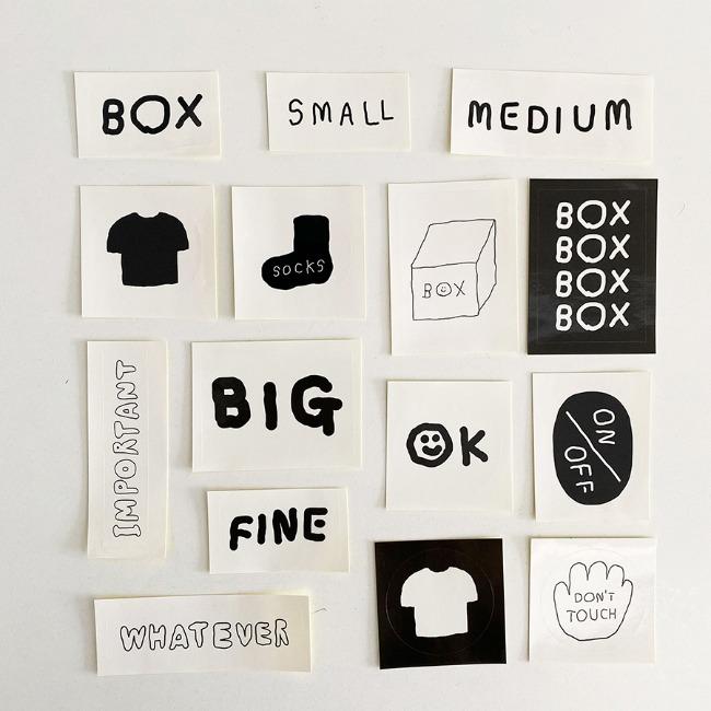 [이나피스퀘어] IN THE BOX STICKER SET_BOX