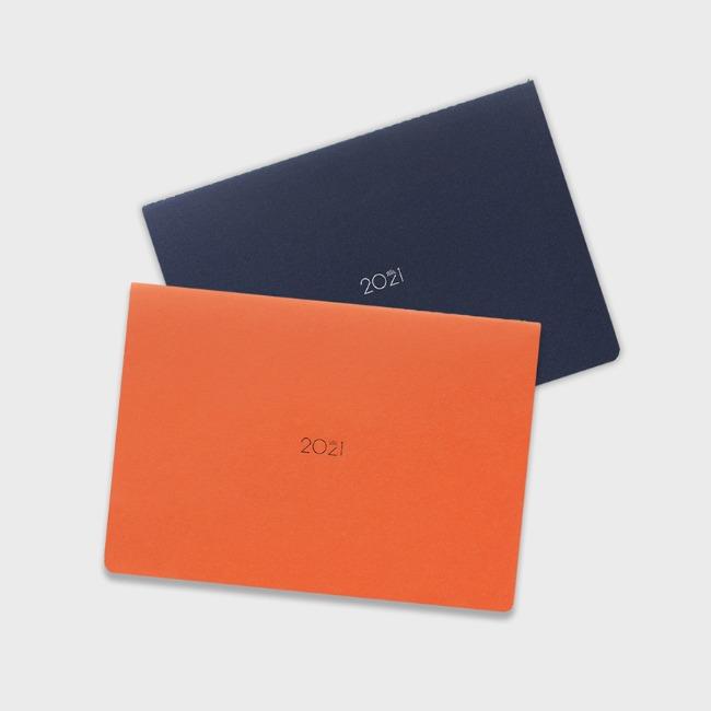 [공장] 21 Monthly planner_navy,orange