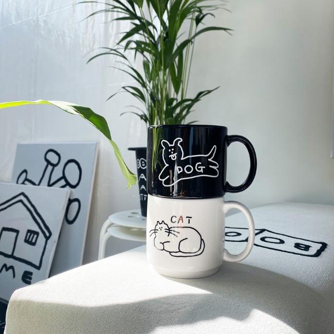 [이나피스퀘어] DOG & CAT Mug