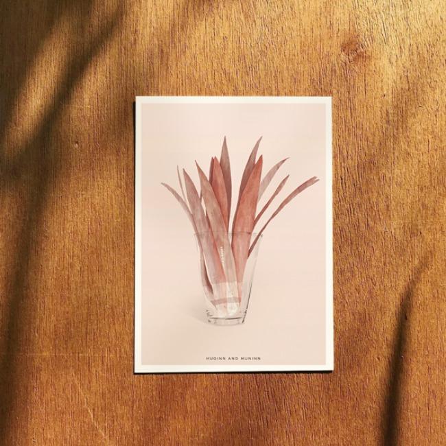 [후긴앤무닌] pink leaf