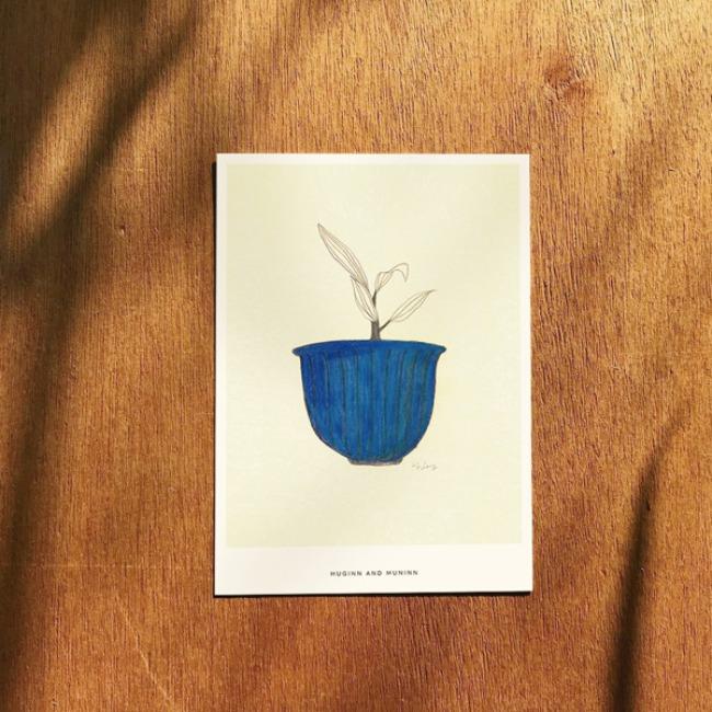 [후긴앤무닌] Blue pot