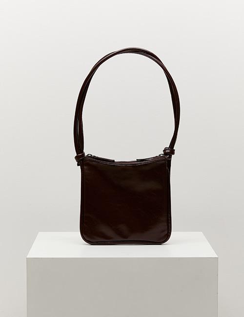 mini square bag (crinkle brown)