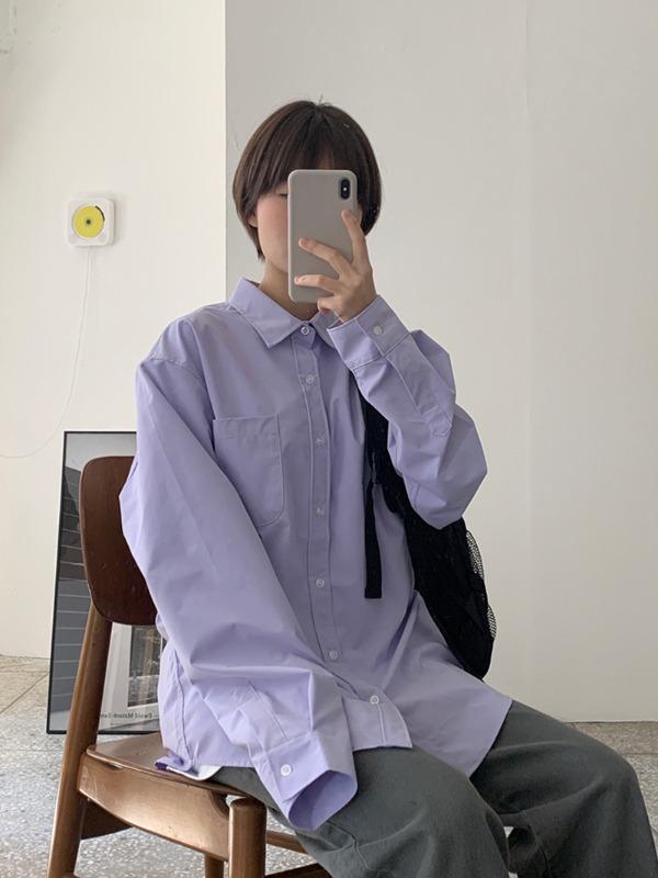 [UNISEX]로트 오버남방(긴팔)