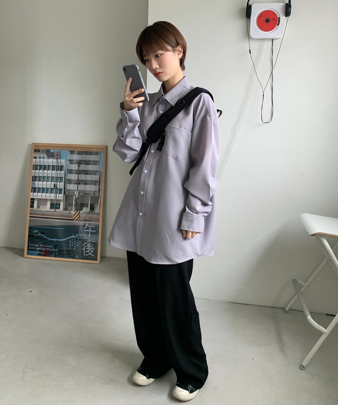 [UNISEX]앤더 오버핏셔츠