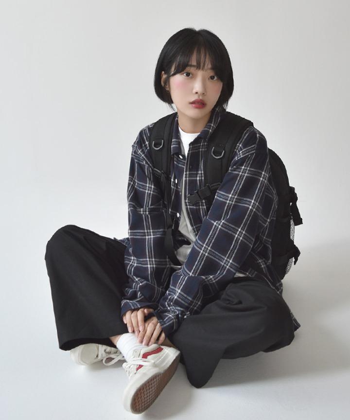 [UNISEX]주카 오버체크남방
