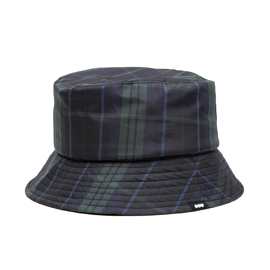 Check Bucket Hat Green
