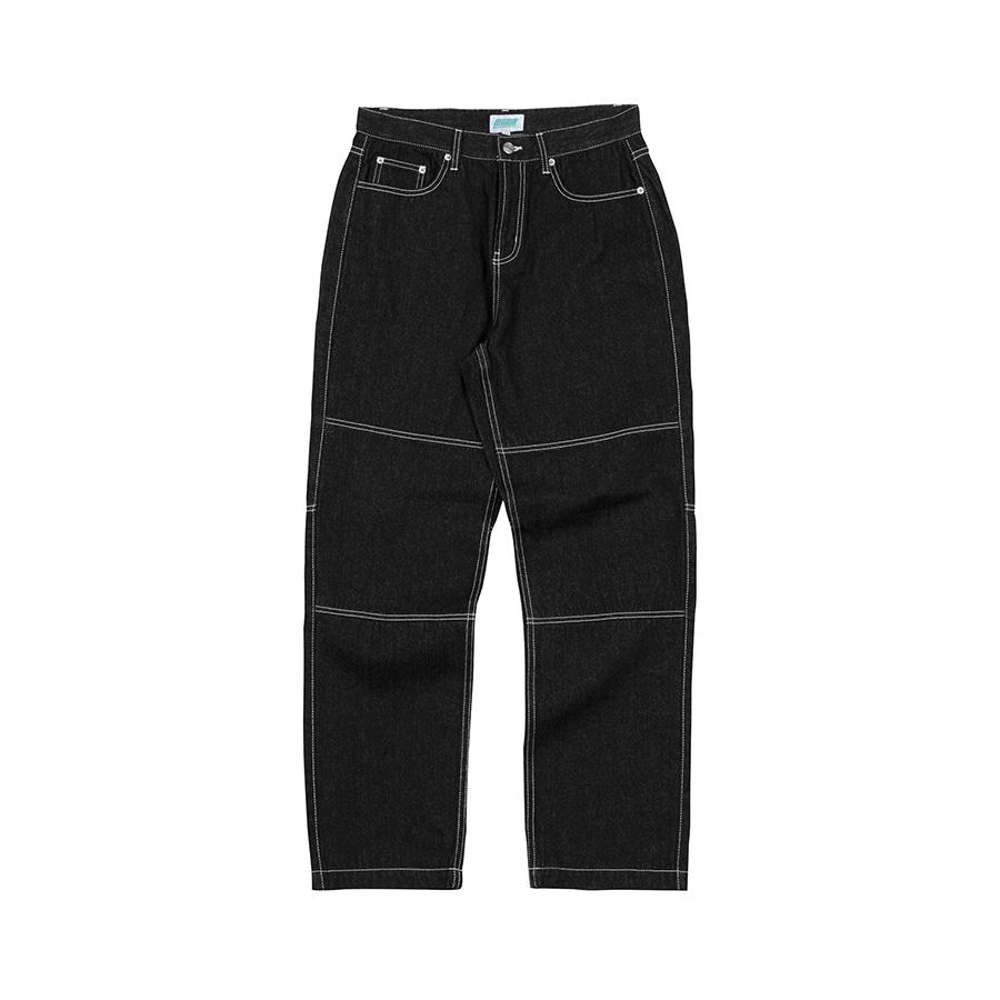 Denim Wide Pants  Black