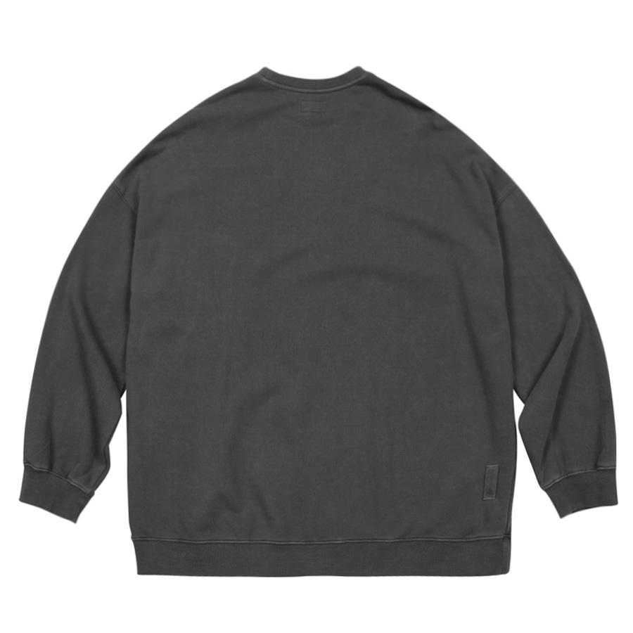 Pigment Dye Sweatshirt  Charcoal