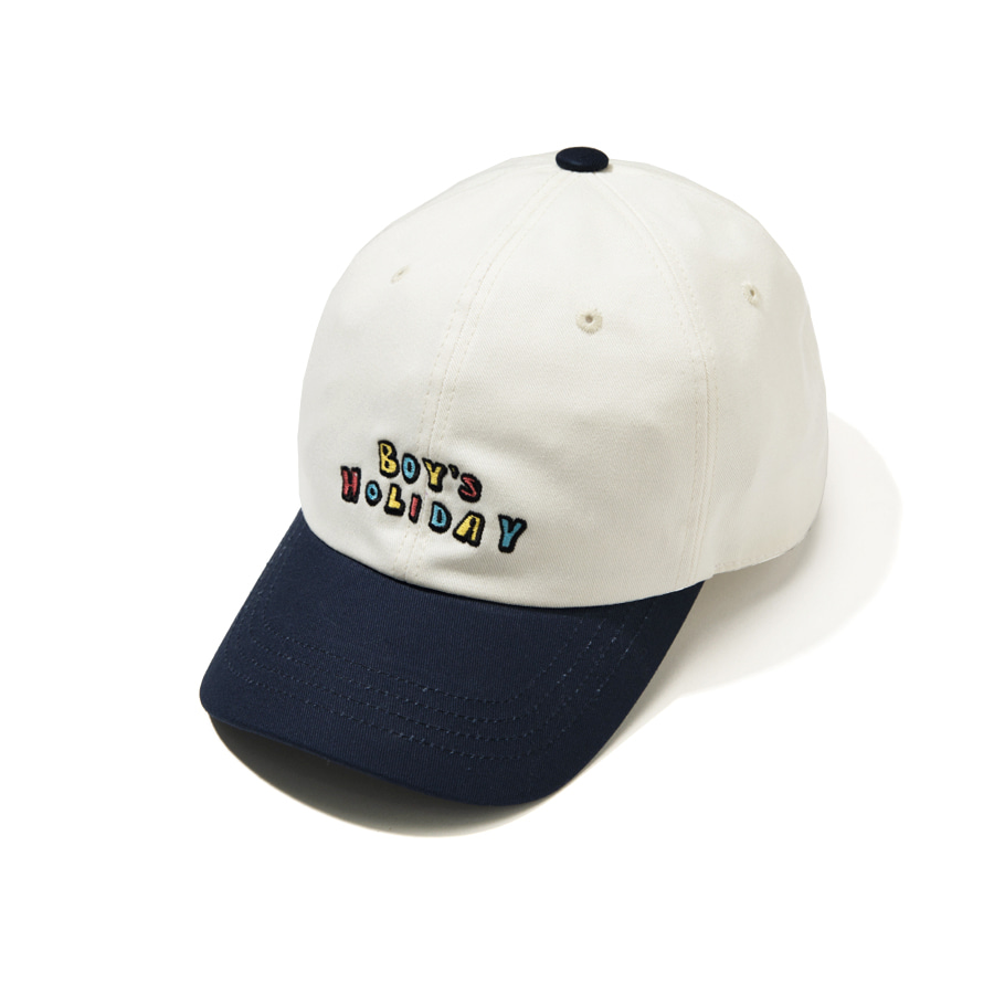 Boy's Holiday Ball Cap Ivory