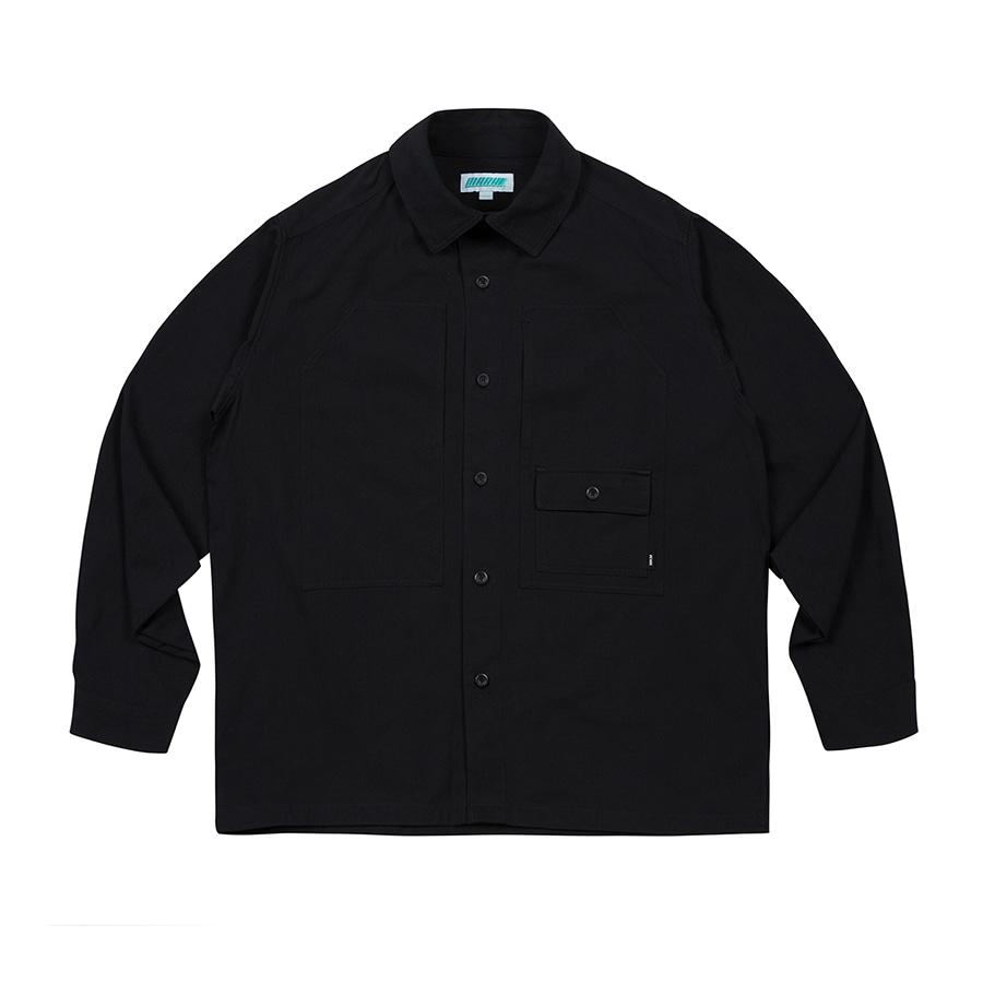 Overfit Work Shirts Black