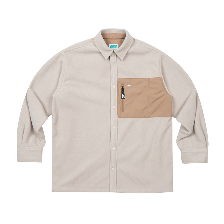 Fleece Over Shirts Beige