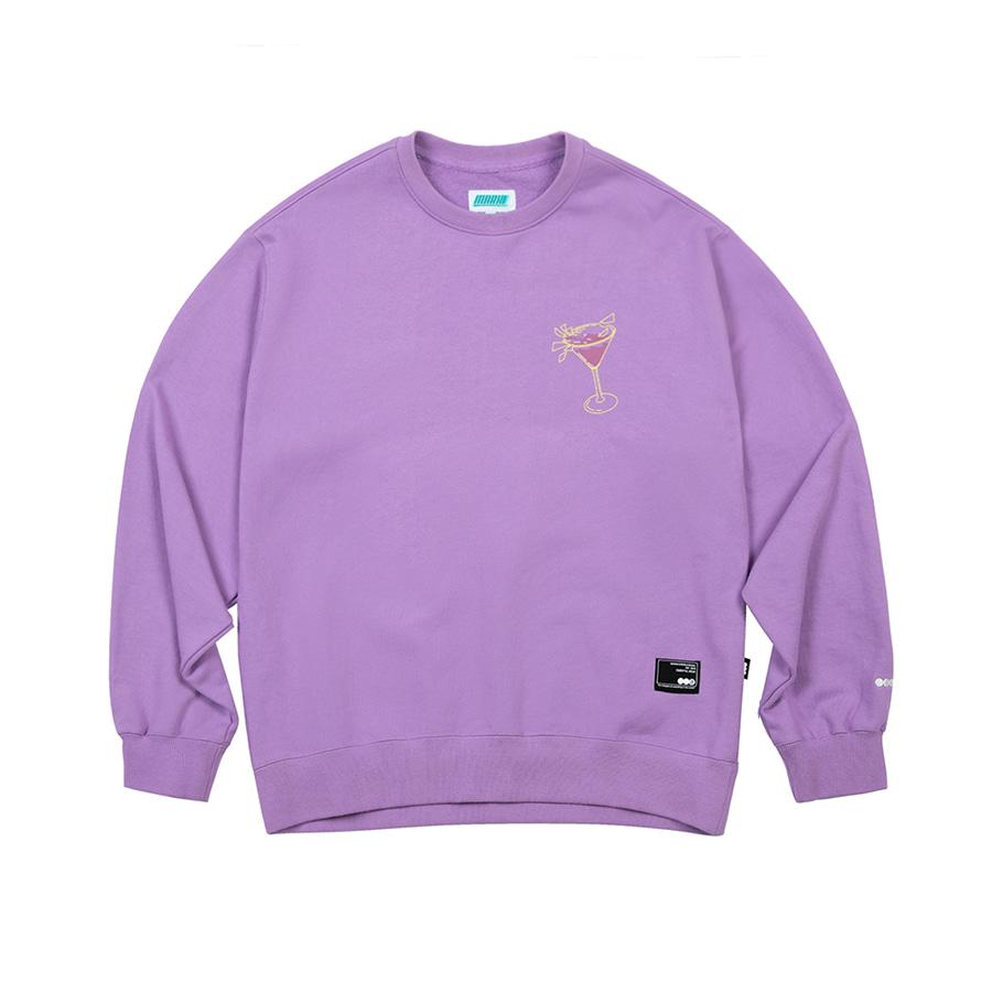 Cocktail Sweatshirt  Light Purple