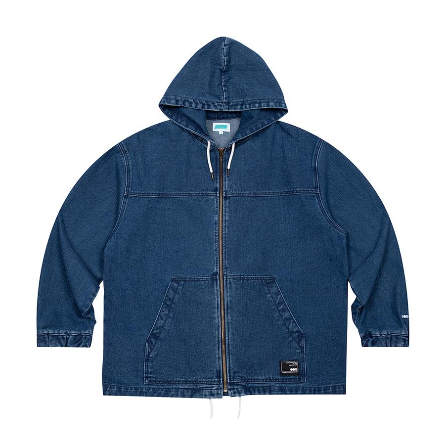 Denim Hooded Jacket Blue