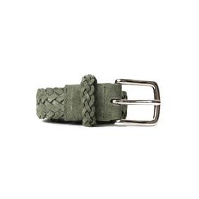 Braided Suede Belt - Green