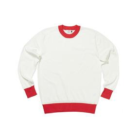 Two Tone Round Cotton Knit - White