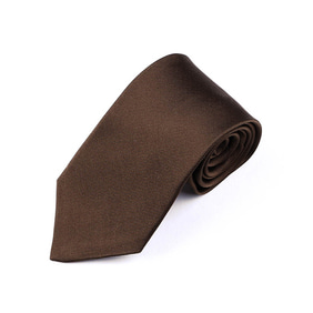 Solid Twill Tie - Brown