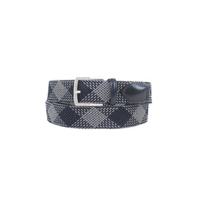 Diamond Pattern Weaving Belt  54 - Navy