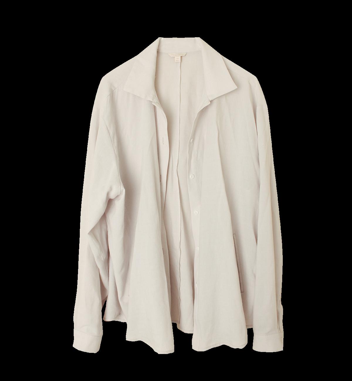 (unisex) Oversize side pocket shirt