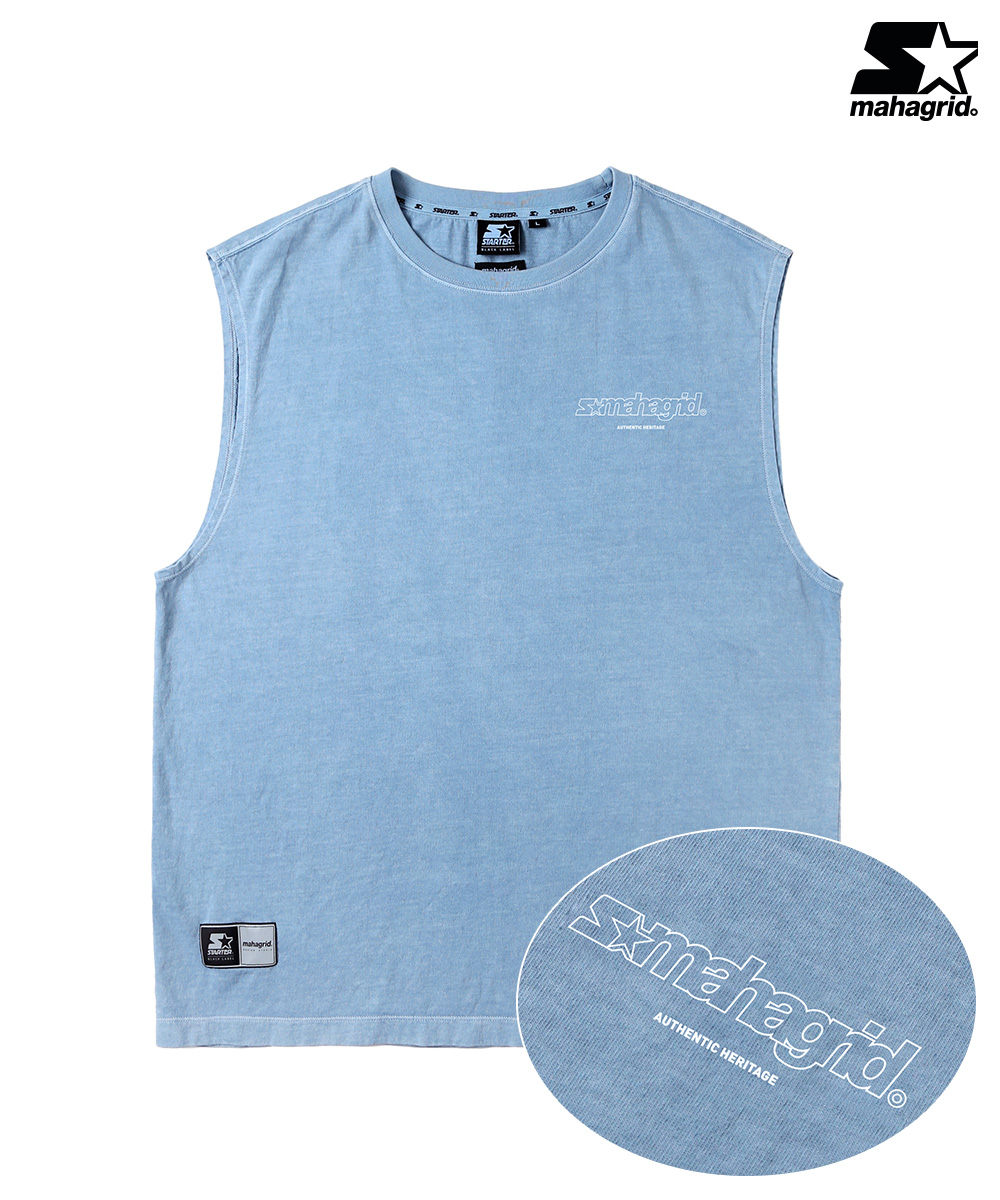 STR X MGD DYED SLEEVELESS TS[BLUE]