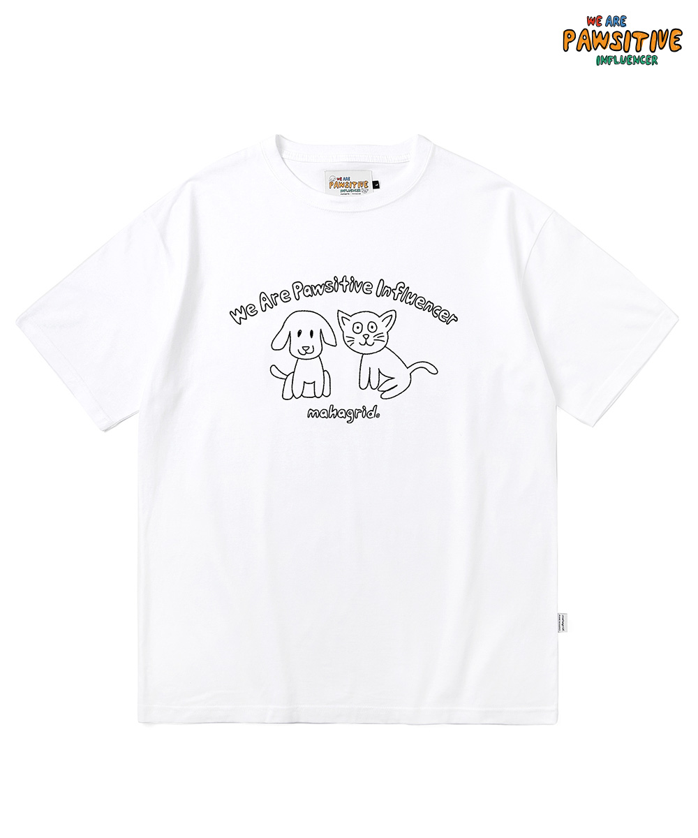 INFLUENCER DOODLE TEE[WHITE]