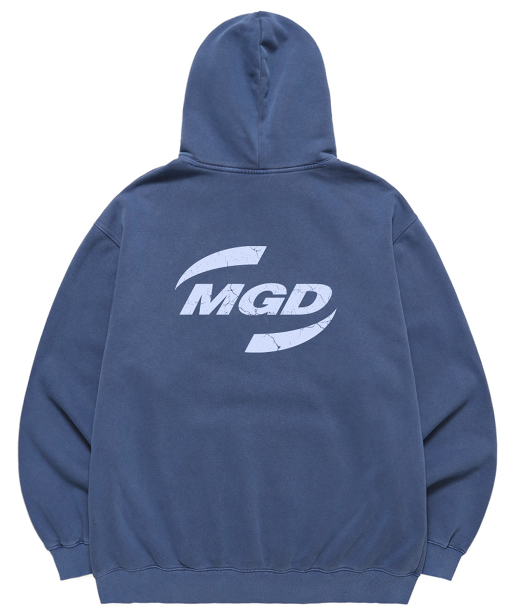 SPIN LOGO PIGMENT HOODIE[BLUE]