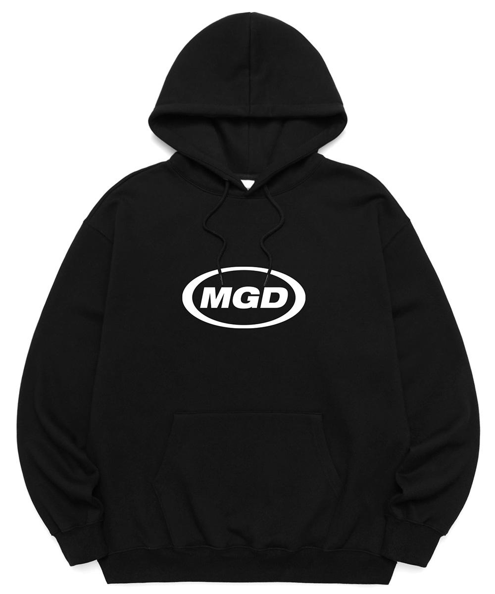 MGD OVAL LOGO HOODIE[BLACK]
