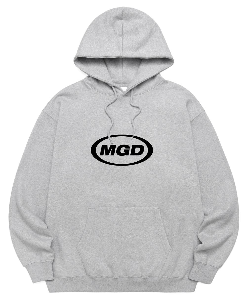 [09.24 예약발송]MGD OVAL LOGO HOODIE[GREY]