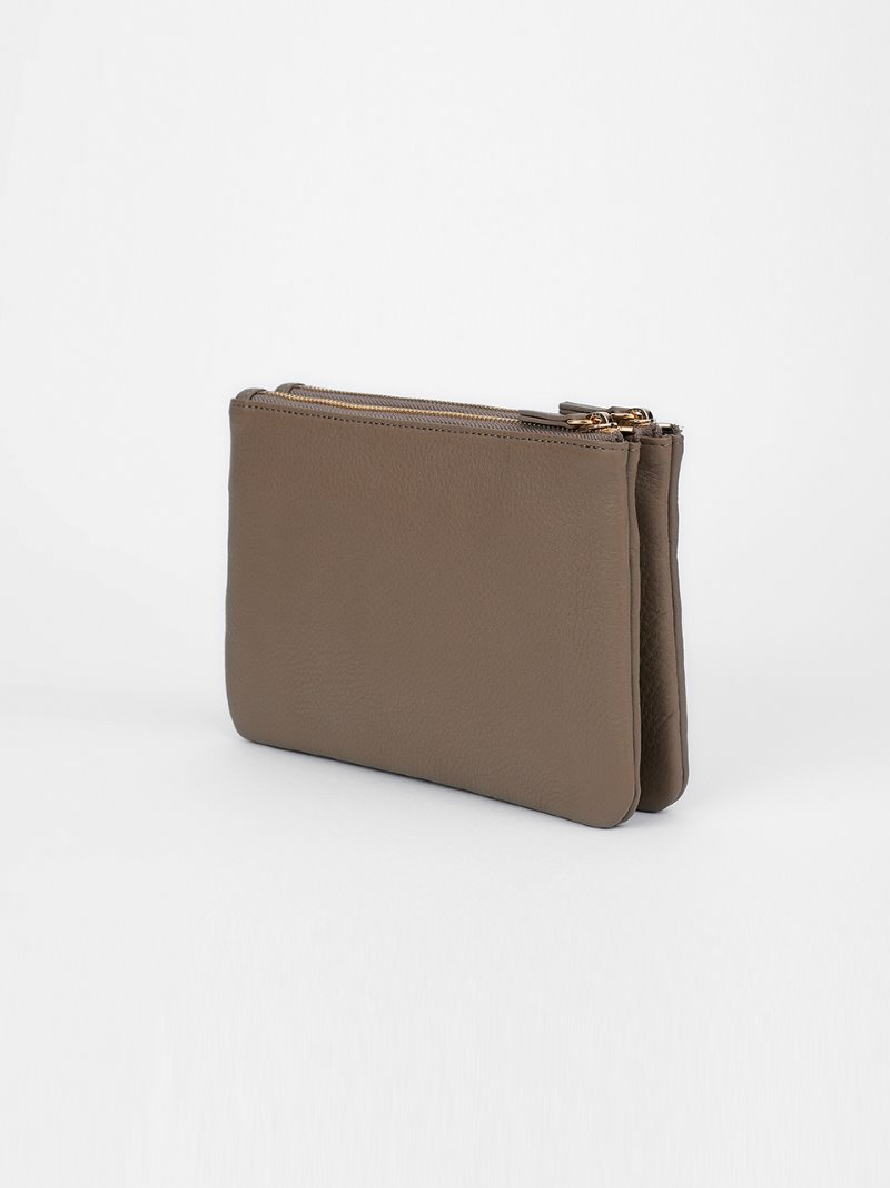 POUCH-DOUBLE-MUD [LESAC]