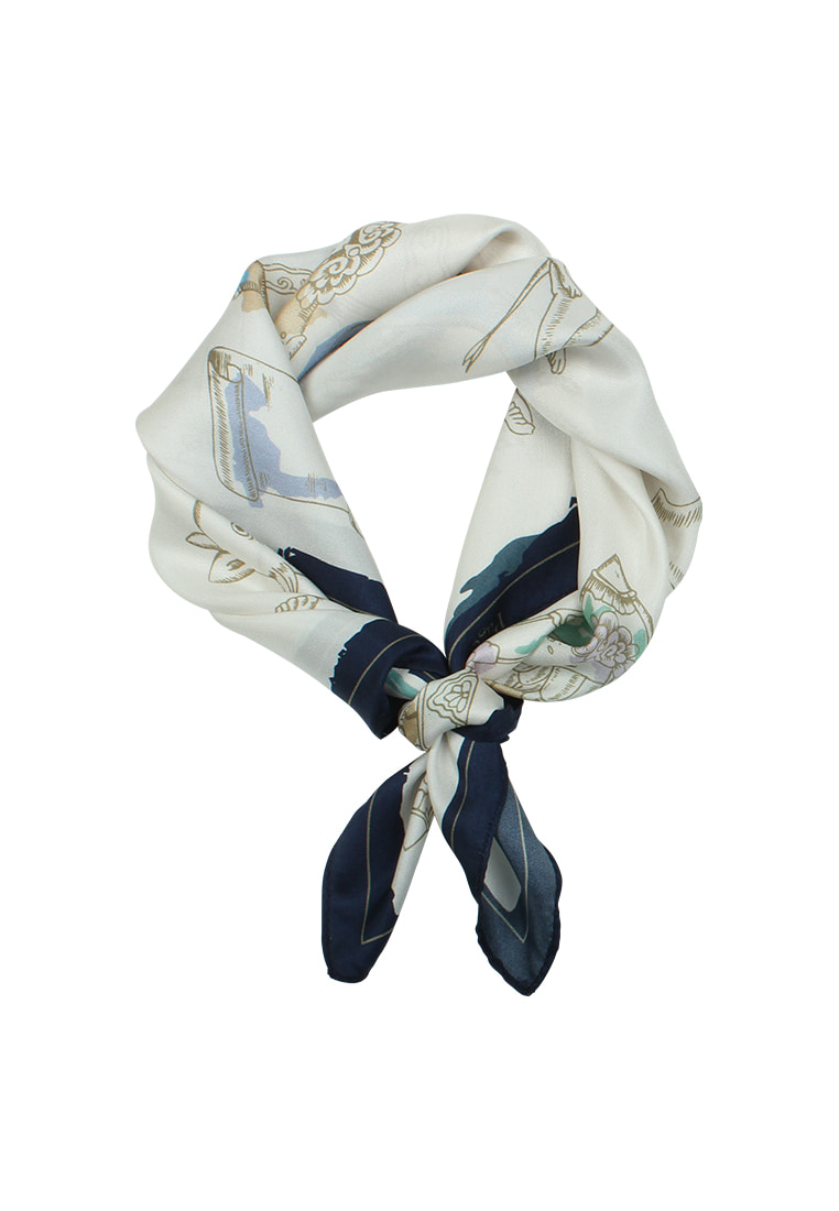 FREAKY ANIMALS SILK SCARF _ 2COLOR (PETIT SIZE)