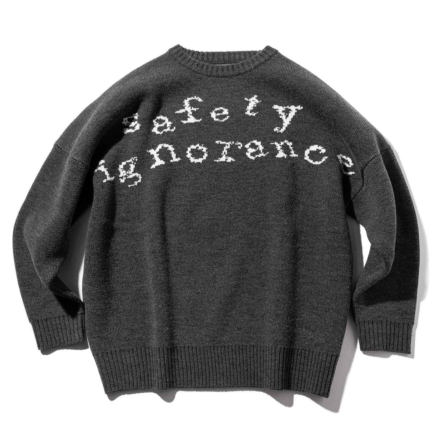 SAFETY LETTERING WOOL KNIT MWZNT001-DG