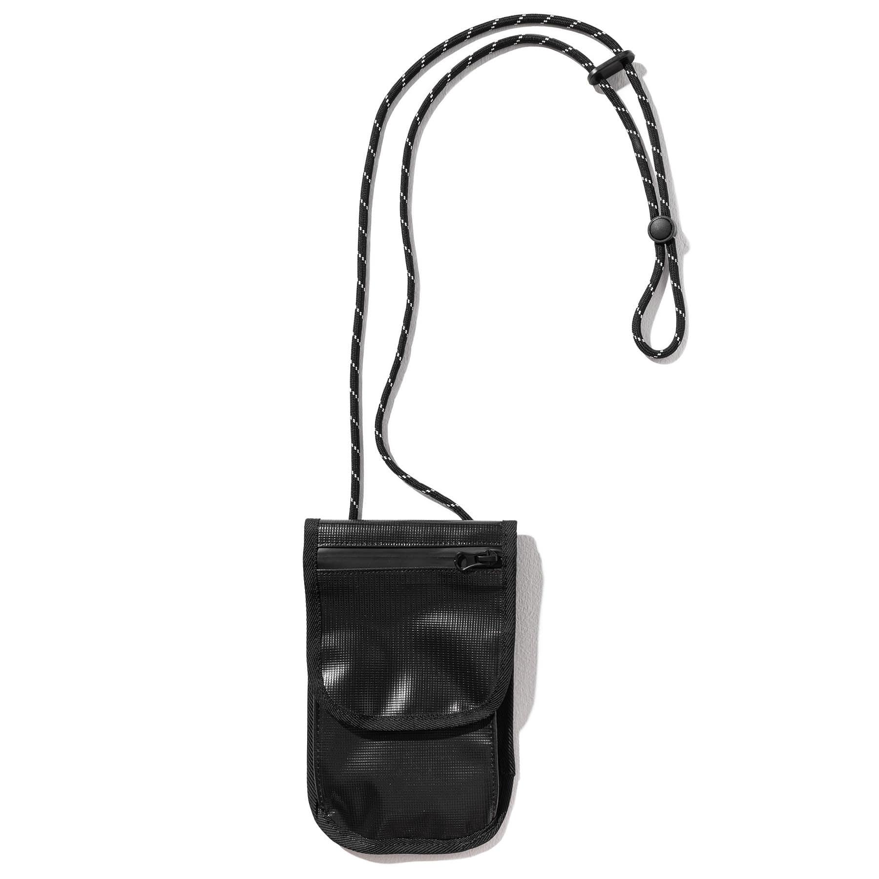 (5%)TARPAULIN SMALL BAG MUOAB001-BK