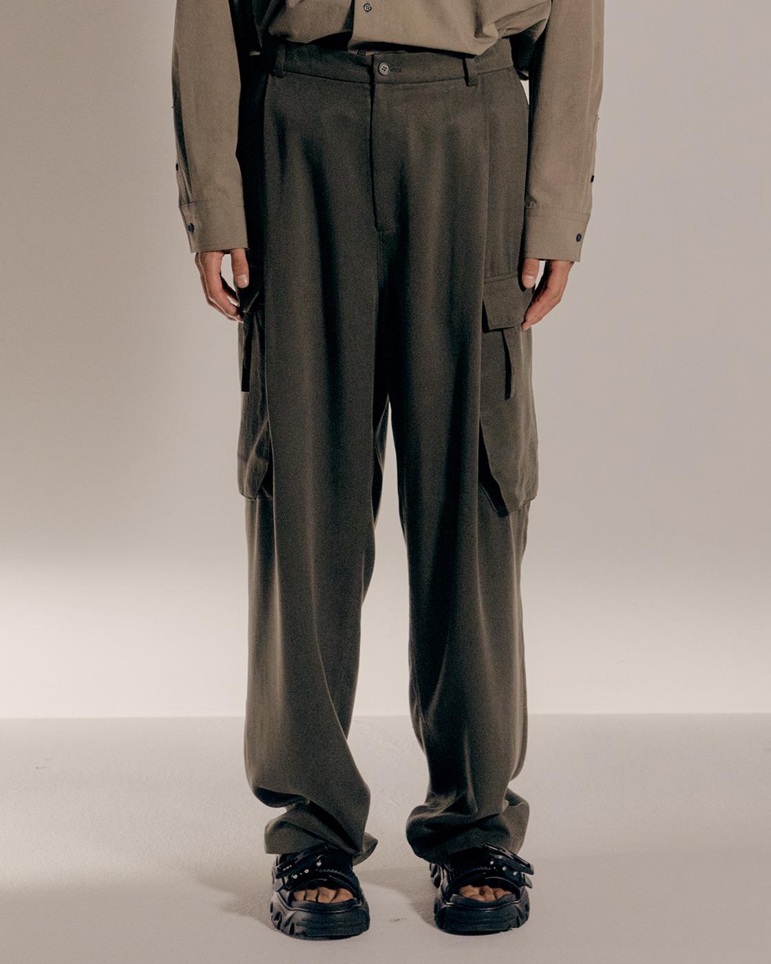 Khaki Loose Cargo Pants