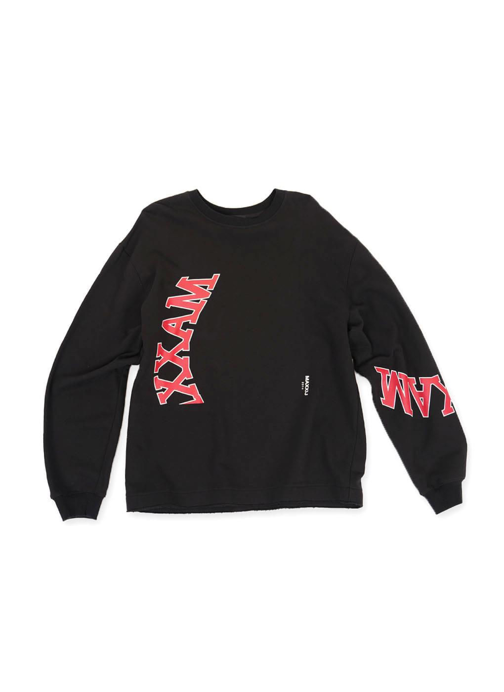 Black Collage Printed Sweatshirt