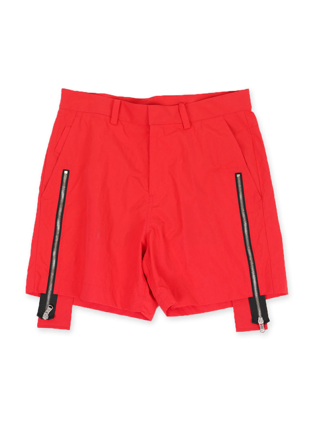 Red Zipper Shorts