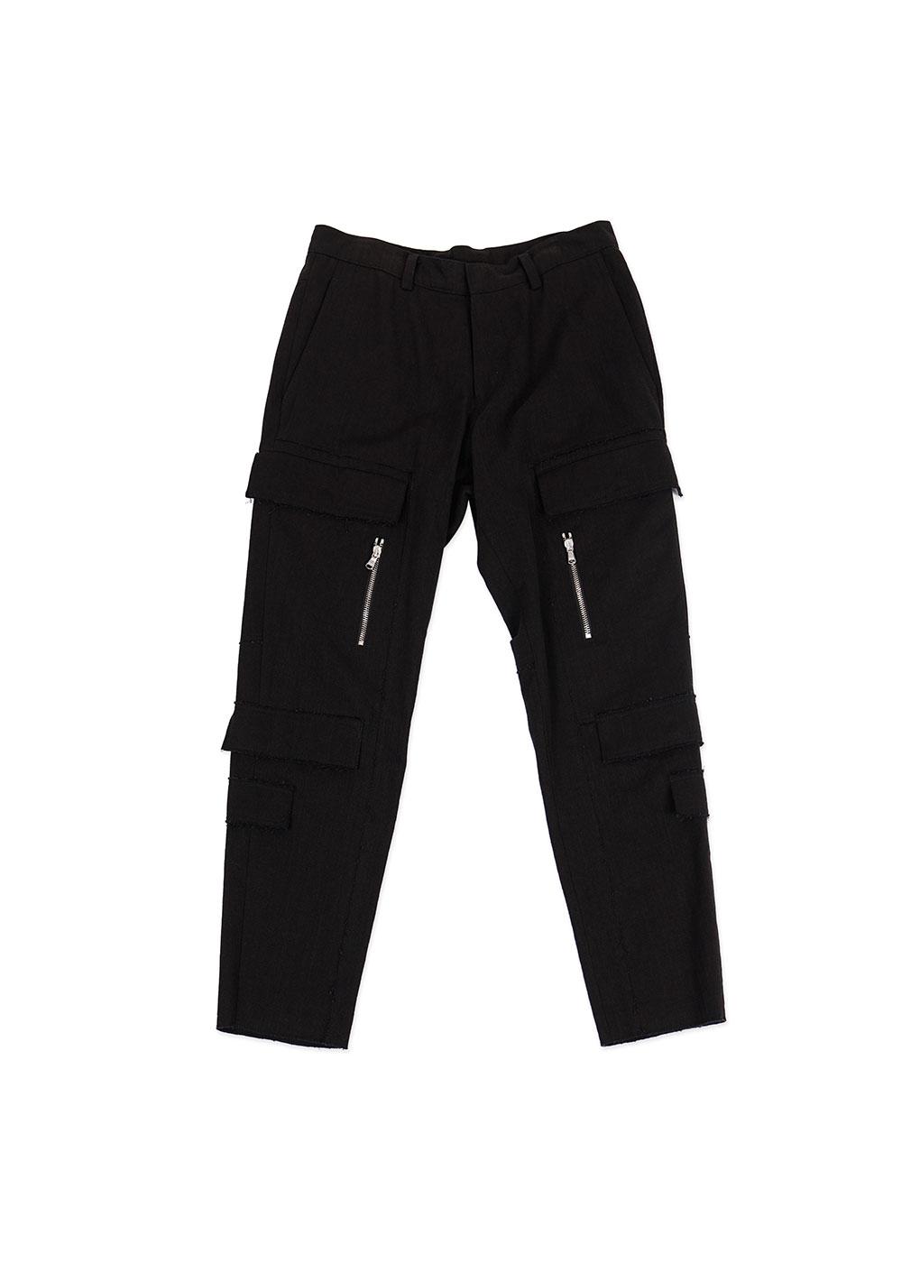 Black New Cargo Denim Trousers