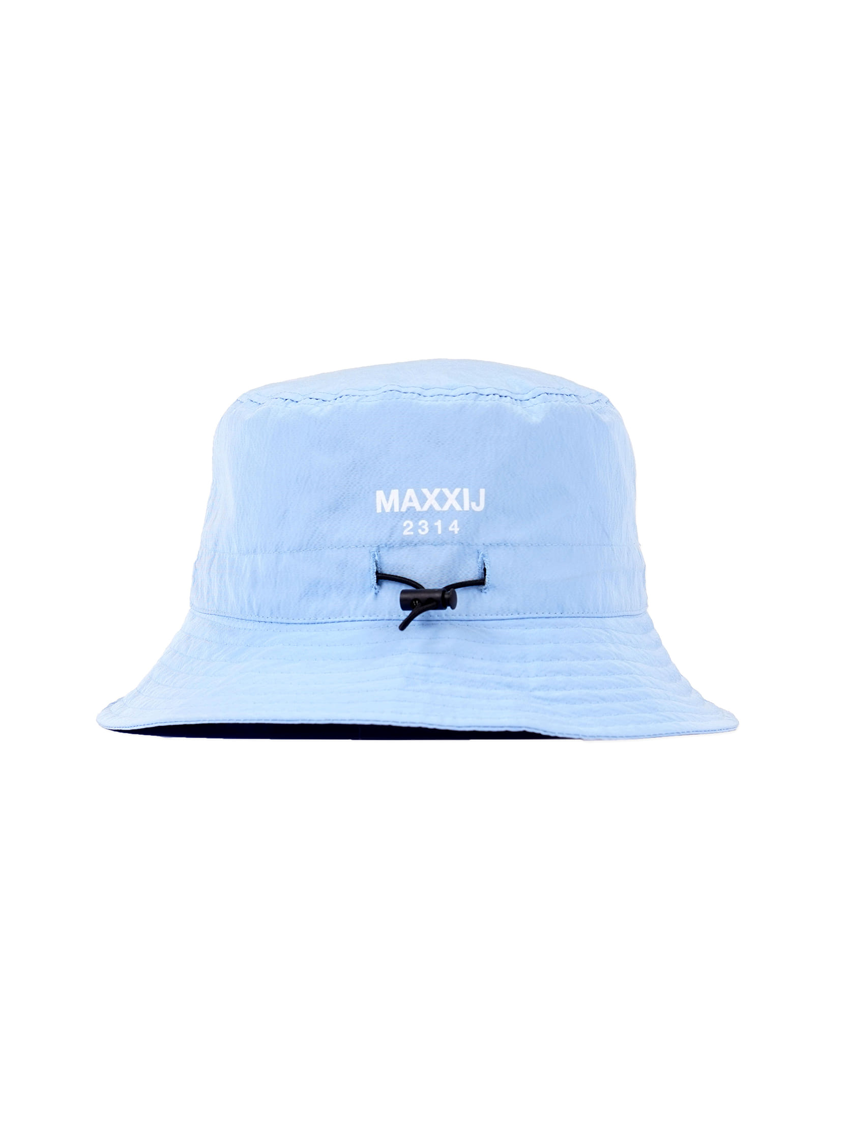 Sky Blue Logo Printed E-string Bucket Hat