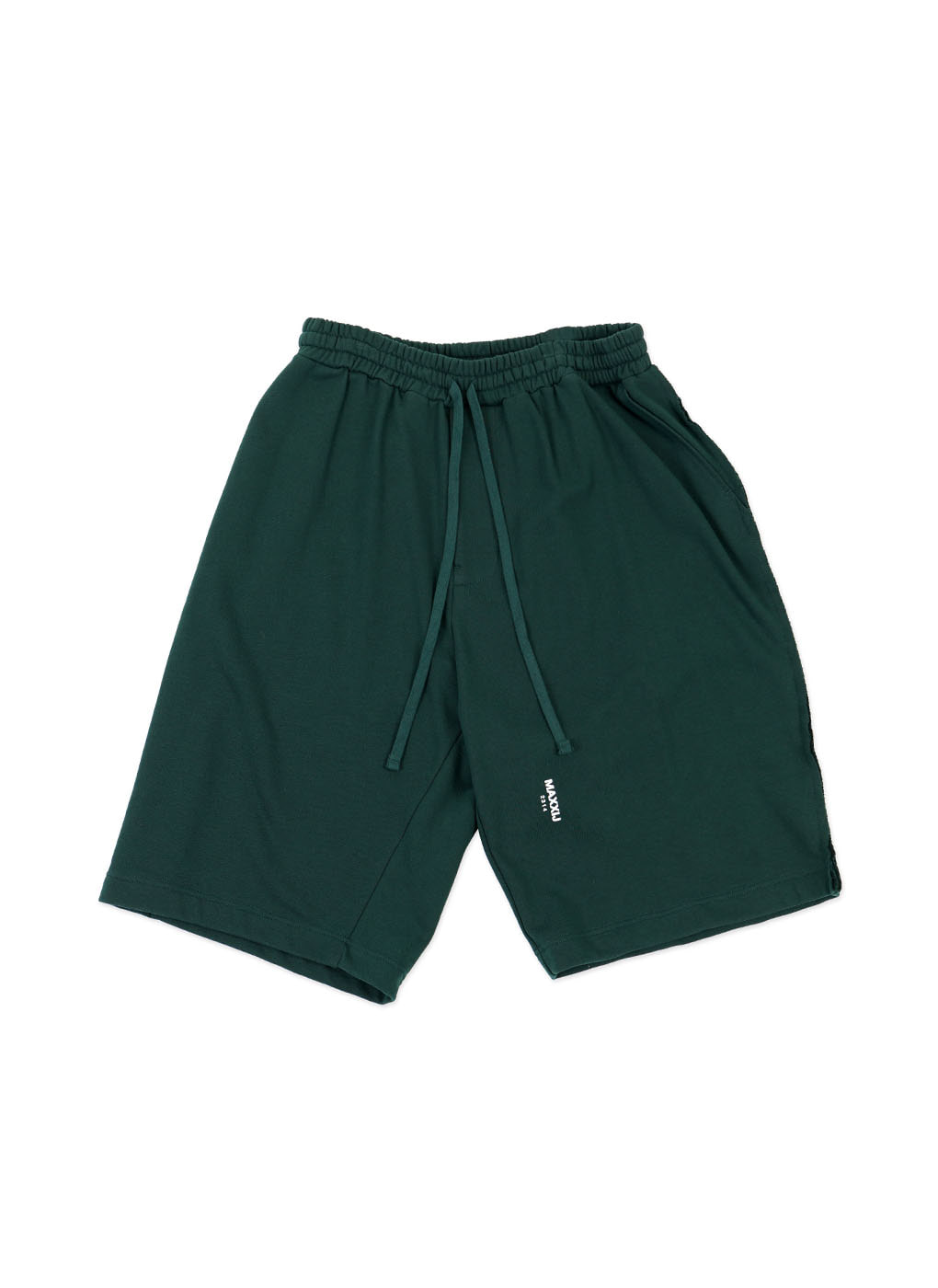 Dark Green Logo Jersey Wide Trousers
