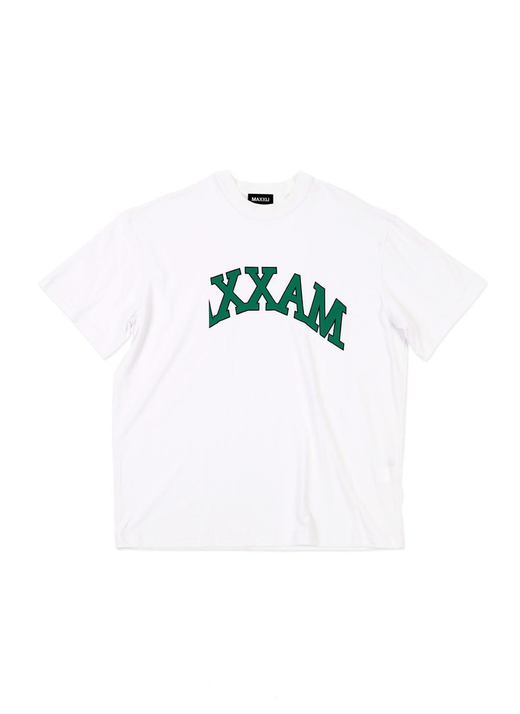 White Basic Collage Printed Tshirt