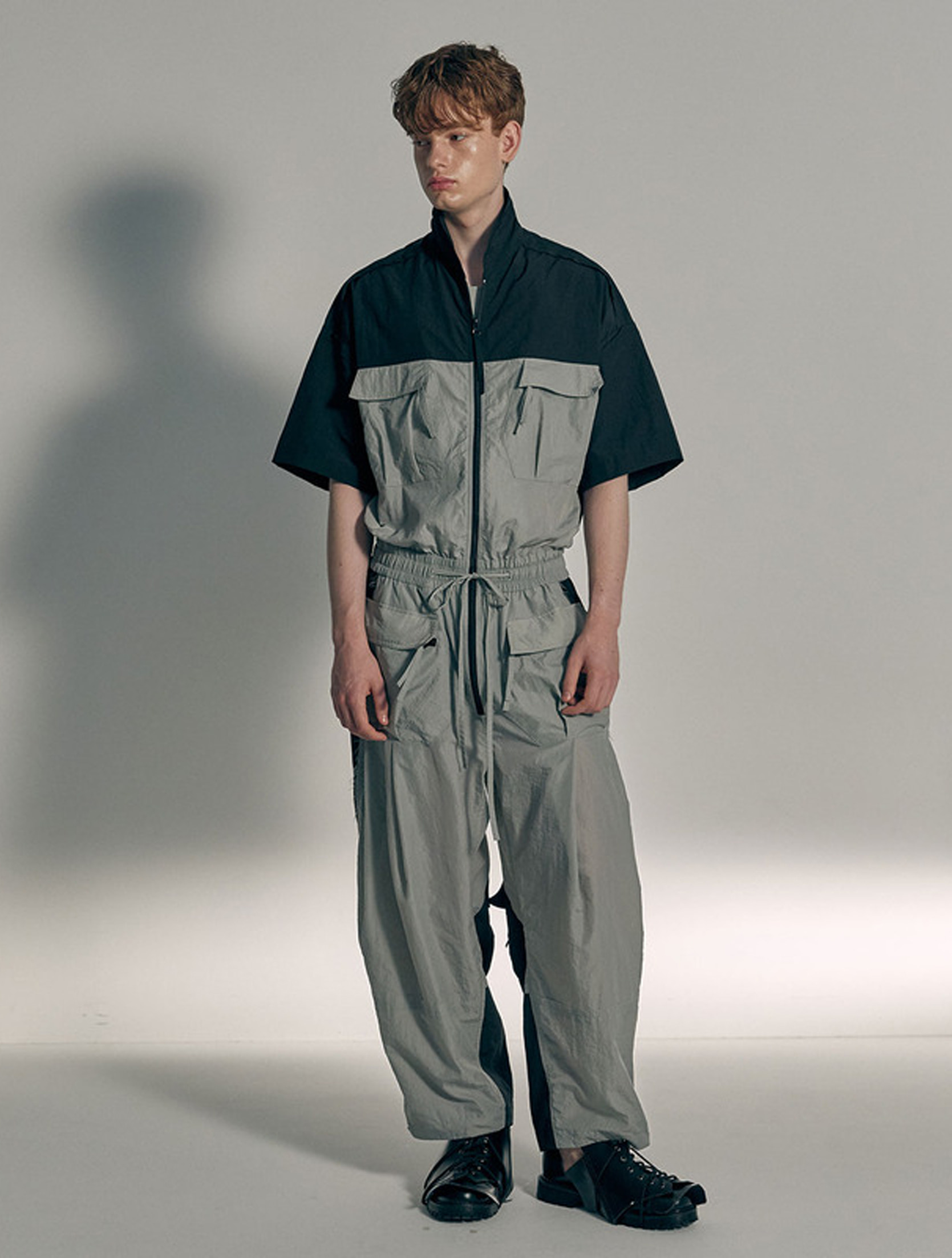 Color Blocking New Pocket Overall