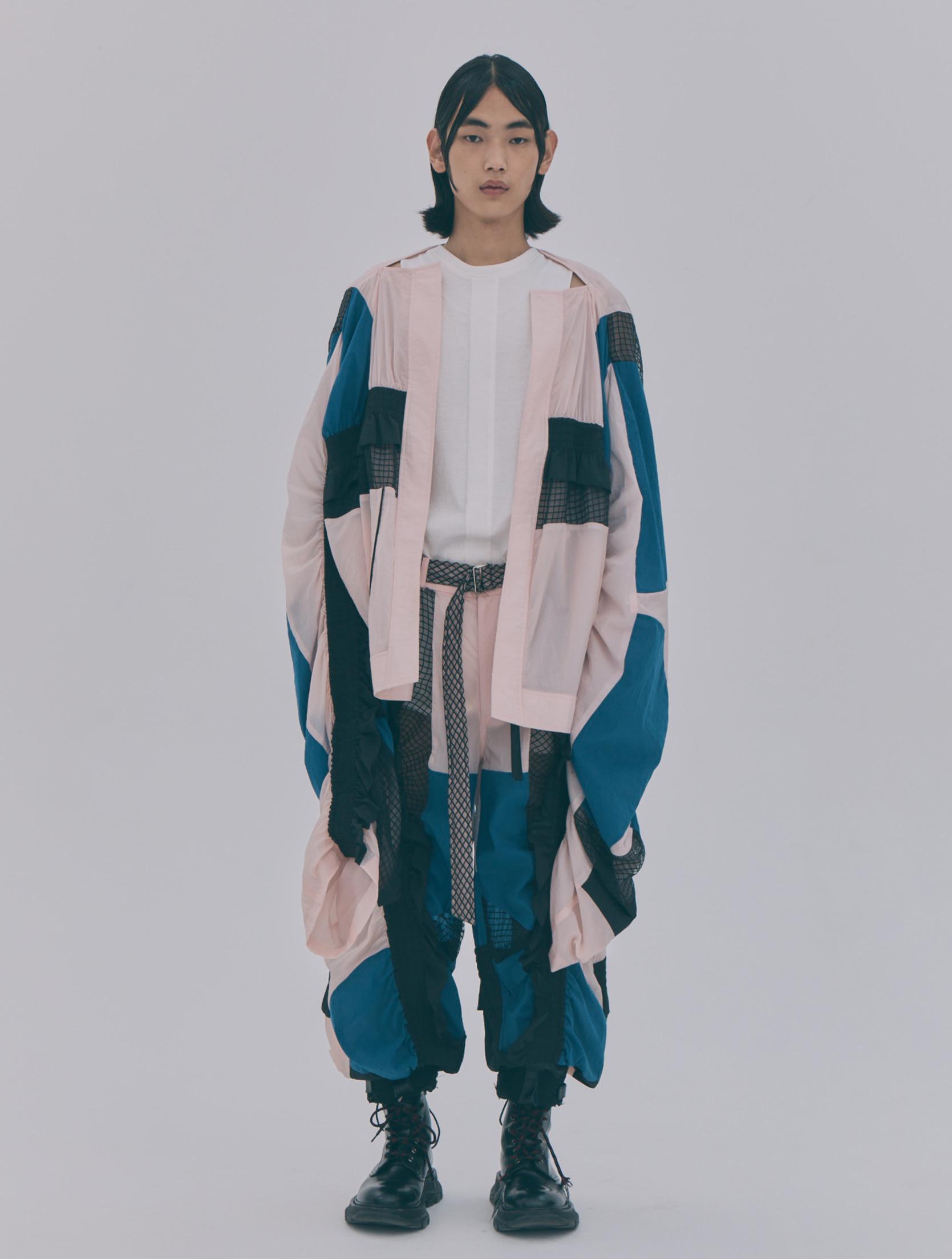 Light Pink Multi Color Blocking Banded Jacket