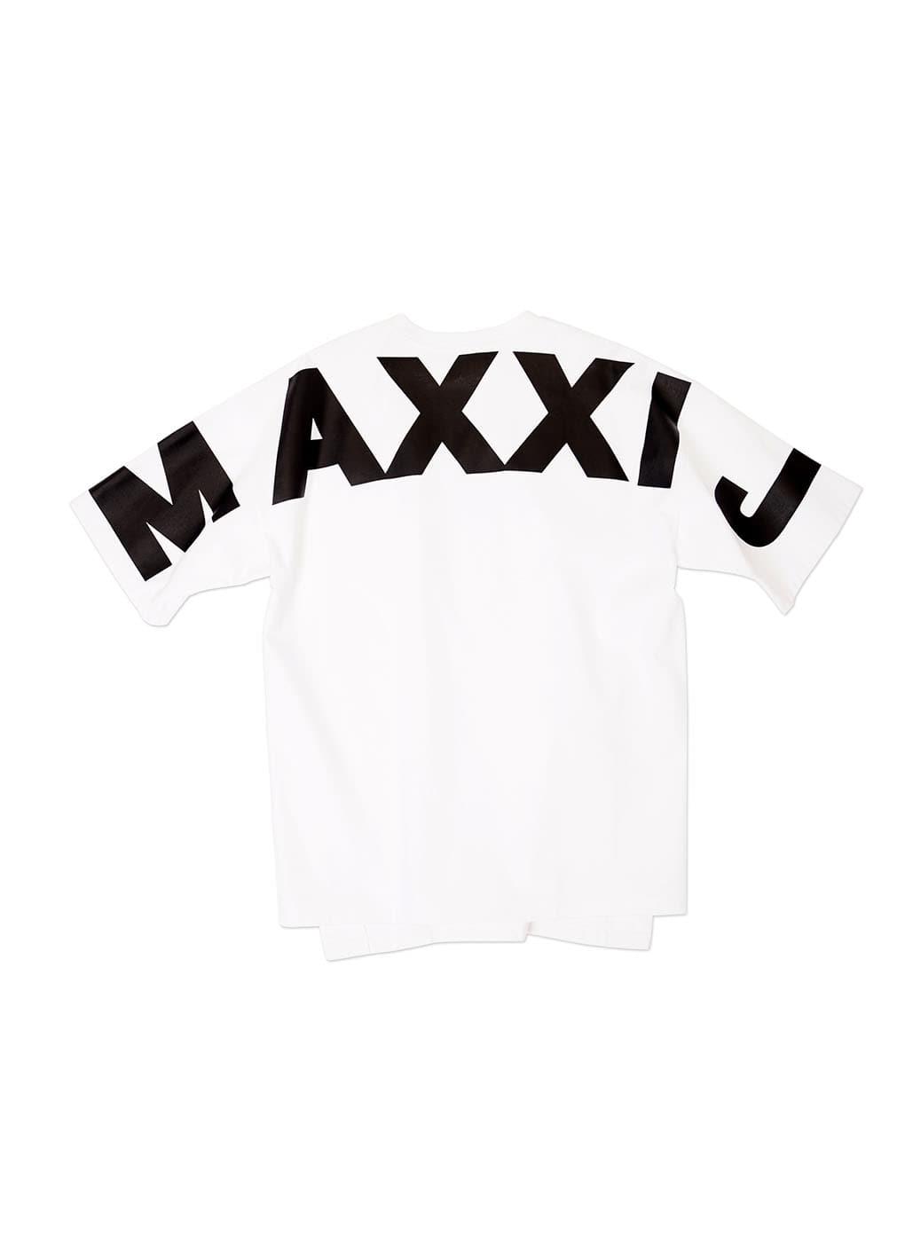 White Oversized Big Logo Printed T-shirt