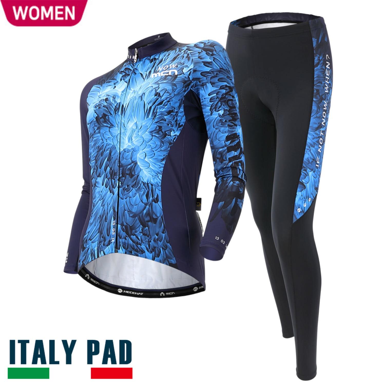 [CHRYSANTHEMUM SET-WOMEN]크리샌서멈 세트춘/추용 여성 긴팔져지+9부 패드바지자전거의류, 자전거복, 사이클웨어, 라이딩복장