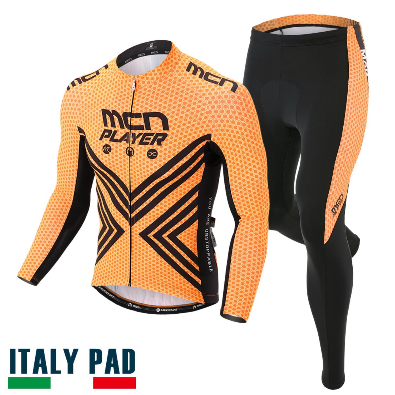 [ORANGE FLEX SET]오렌지 플렉스 세트춘/추용 긴팔져지 + 9부 패드바지자전거의류, 자전거복, 사이클웨어, 라이딩복장