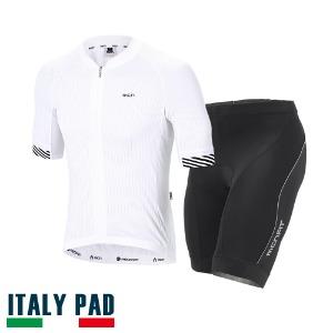[3D WHITE SET]3D 반팔져지 + 네오 4부 패드바지 세트여름 자전거의류, 자전거옷, 싸이클웨어