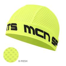 [SKULL CAP KMESH F-GREEN]K매쉬 스컬캡-형광 그린 헬멧 속에 가볍게 착용 벌레는 막고 바람은 슝슝~ 시원합니다.
