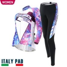 살균 스프레이 무료증정[TWINKLE SET-WOMEN]트윙클 세트춘/추용 여성 긴팔져지+9부 패드바지자전거의류, 자전거복, 사이클웨어, 라이딩복장