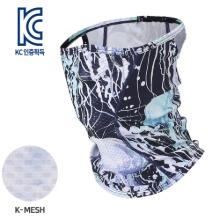 [MASK SR1-JELLYFISH]통기성 좋은 기능성 K-메쉬 마스크, 젤리피쉬벌레와 자외선으로 부터 얼굴을 보호하는자전거/등산/낚시/레저 등 스포츠마스크