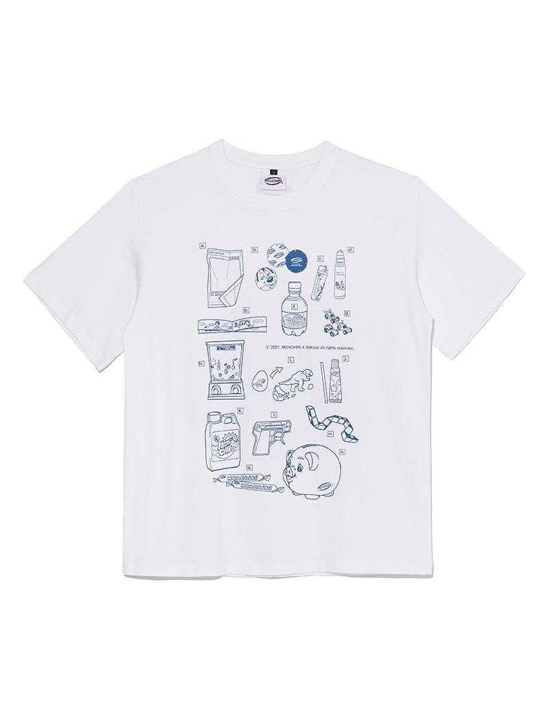 MCNCHIPS X Bakijoo 90-00 01 Tee [blue/white]